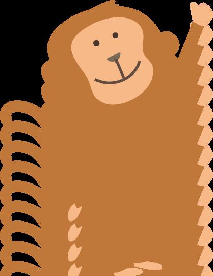 猿(さる)のイラスト-無料イラ...