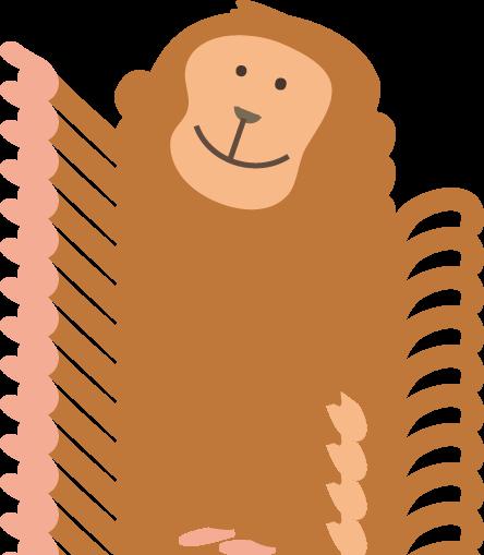 猿 さる のイラスト 無料イラストフリー素材