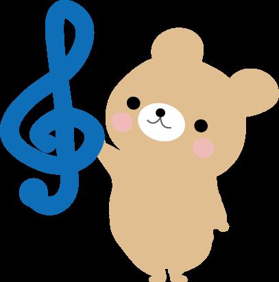 動物たちの音符のイラスト 無料イラスト フリー素材