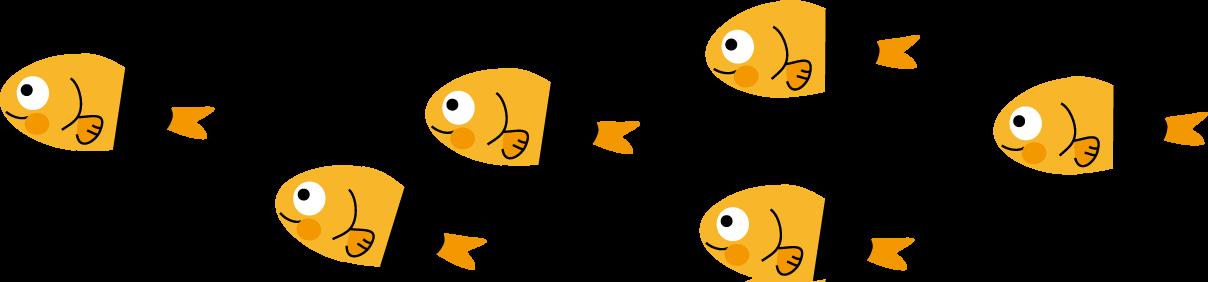 お魚のライン 飾り線 : お魚の絵 : すべての講義