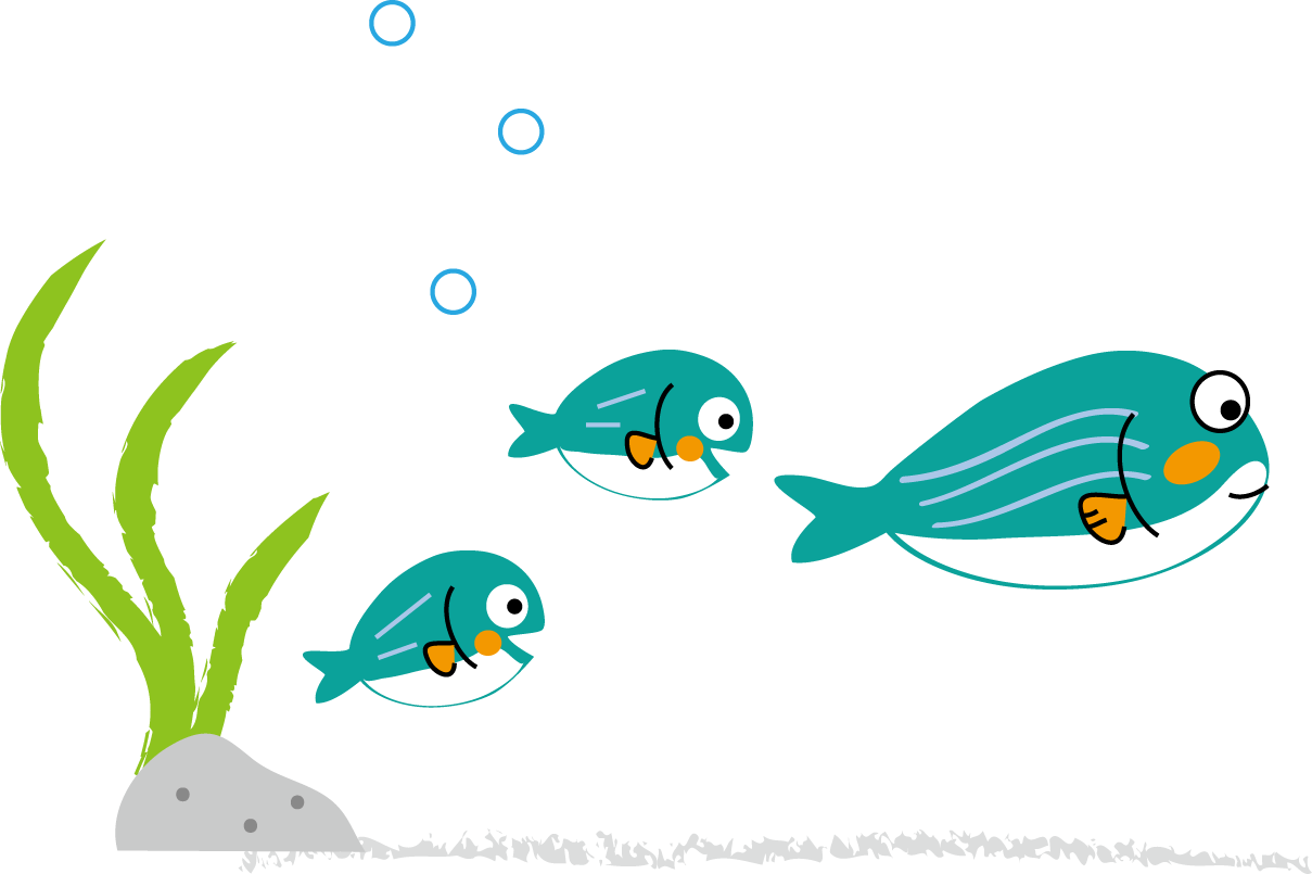 海の生き物のイラスト・無料イラストフリー素材
