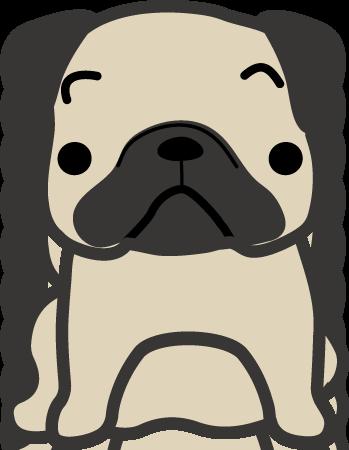 パグ 犬のイラスト 印刷用ダウンロード1