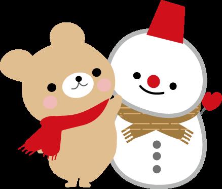冬のイラスト 雪だるま 無料イラストフリー素材