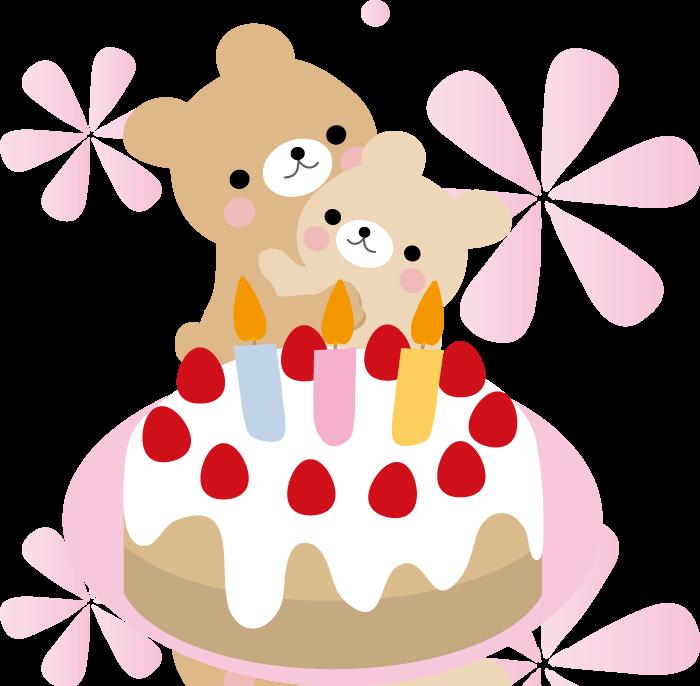 誕生日のケーキのイラスト