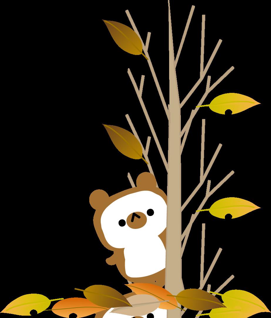 秋のたぬきのイラスト-無料イラスト