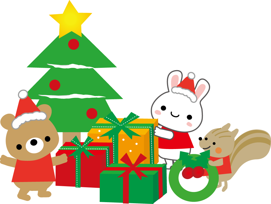 楽しいクリスマスのイラスト/無料イラスト