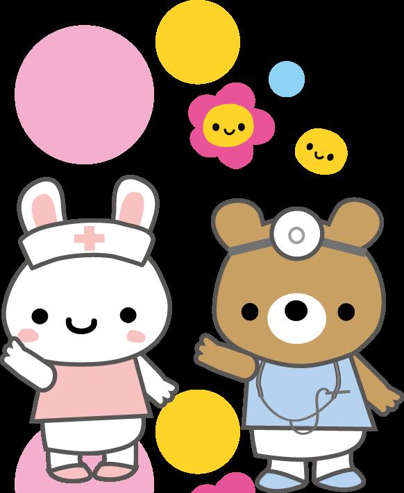 医療イラスト かわいい看護師と医師の無料イラスト