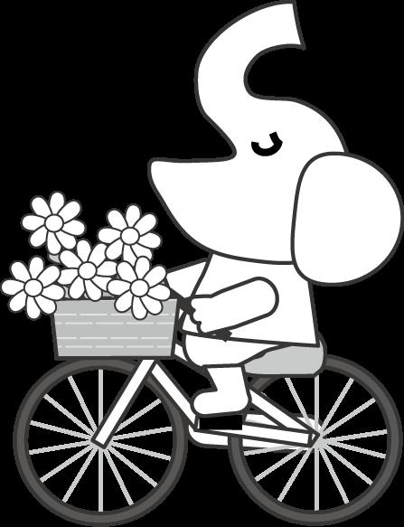 自転車イラスト白黒