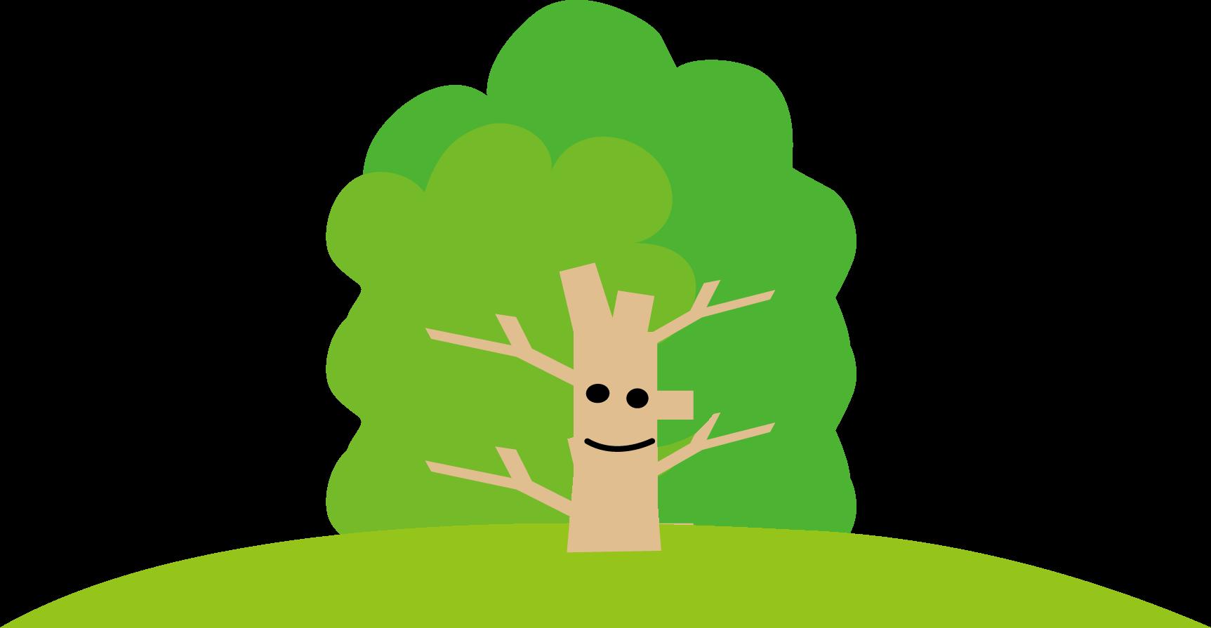 木のイラスト(挿絵)無料イラスト