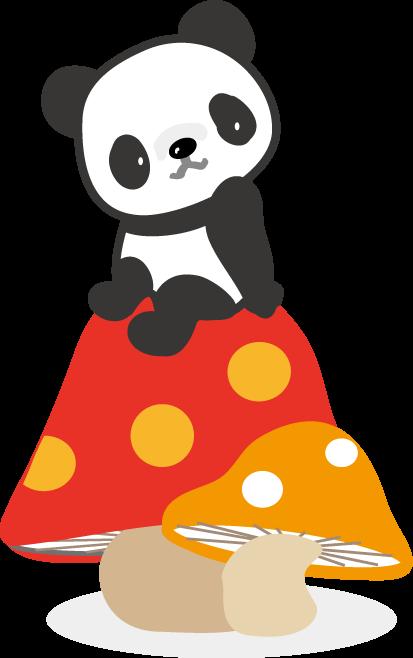 パンダのイラスト-無料 ... : かわいいメッセージカード : カード