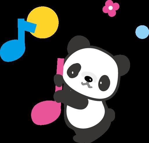 パンダのイラスト-無料 ... : メッセージカード 印刷 : カード