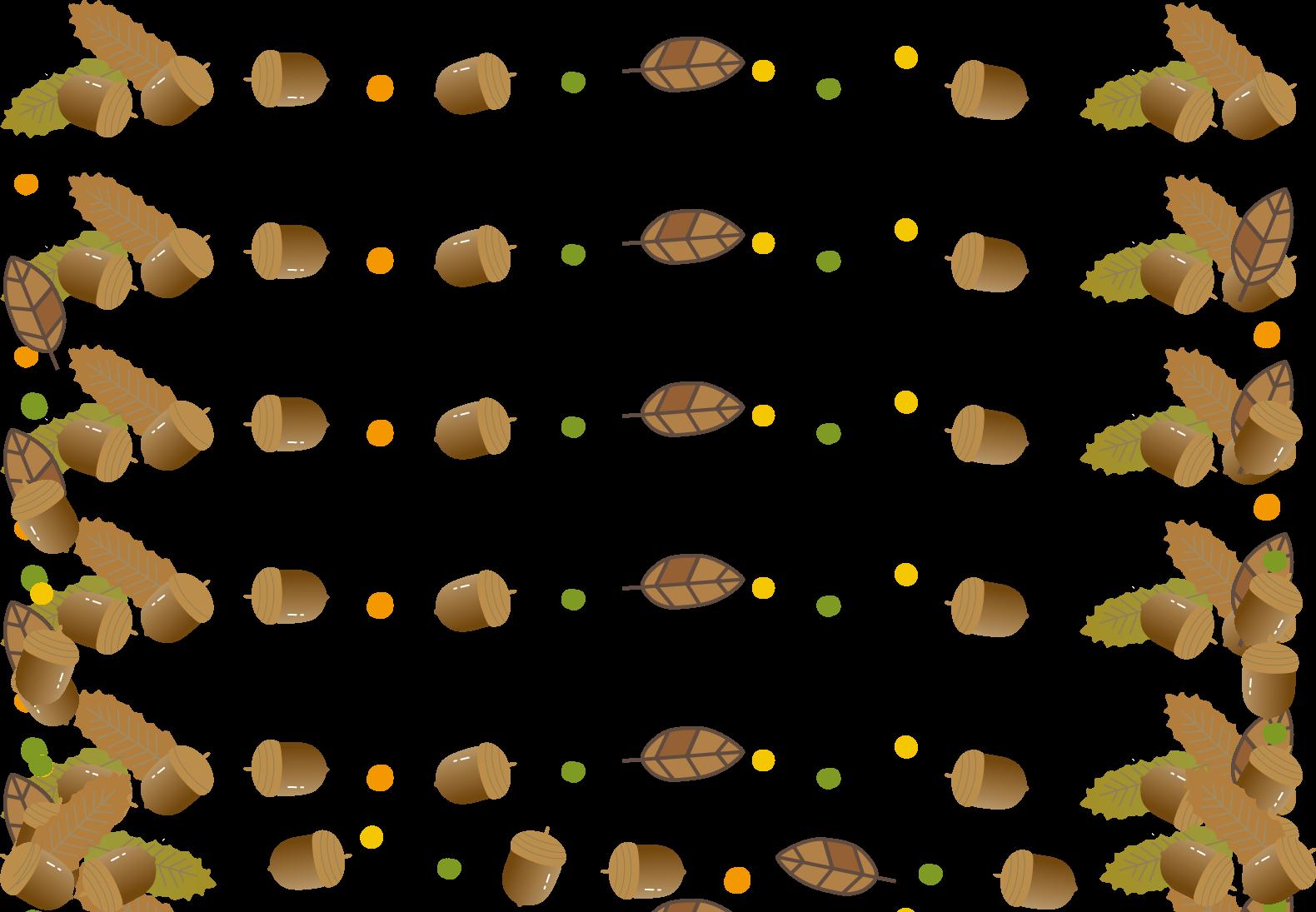 枠・吹き出しイラスト(秋どんぐり)無料イラスト素材