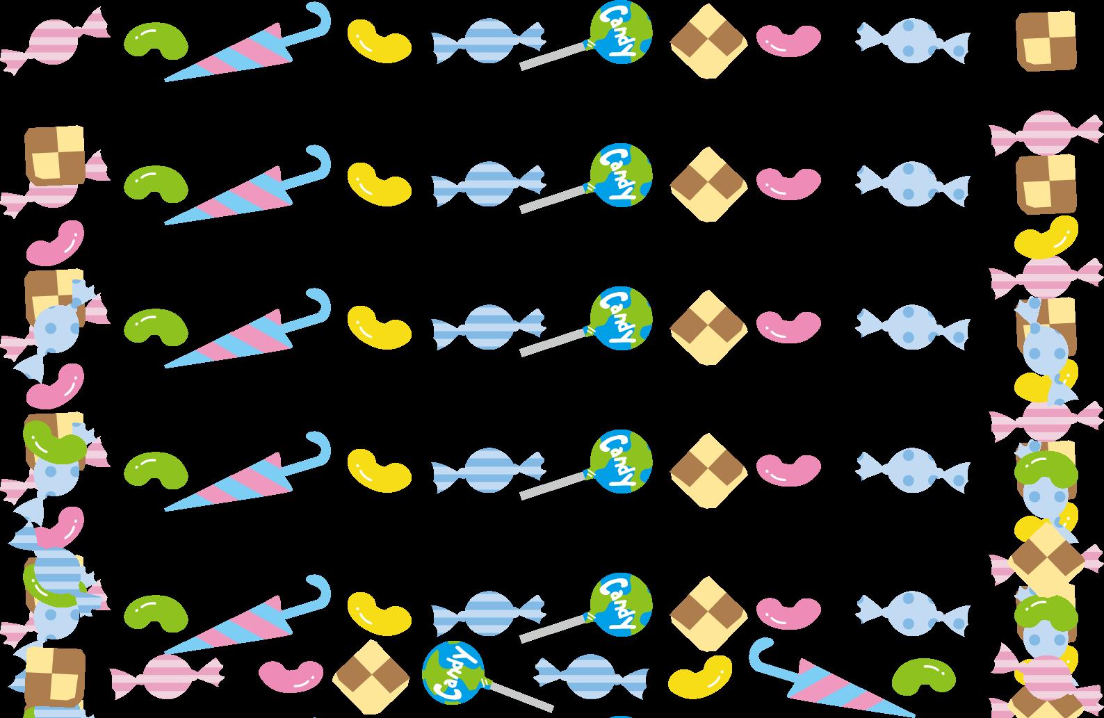 お菓子イラスト(お菓子すくい)無料イラスト