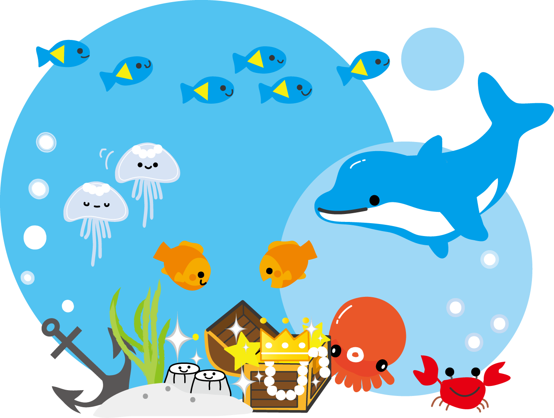 海の宝箱・無料イラストフリー素材