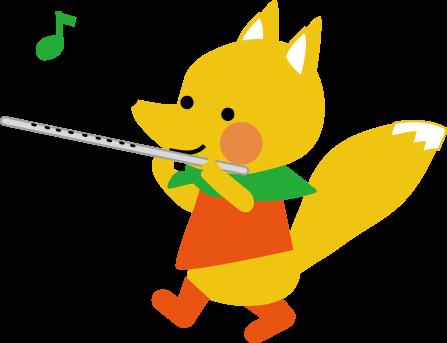 楽器演奏狐