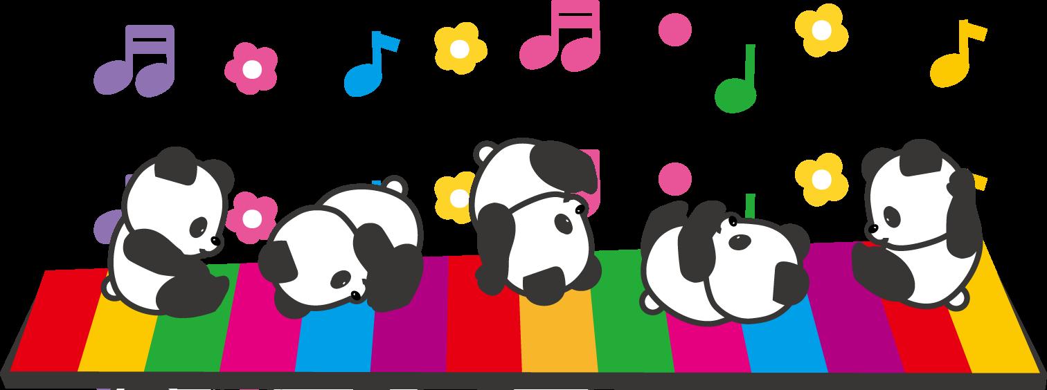 動物たちの音符のイラスト/無料イラスト・フリー素材