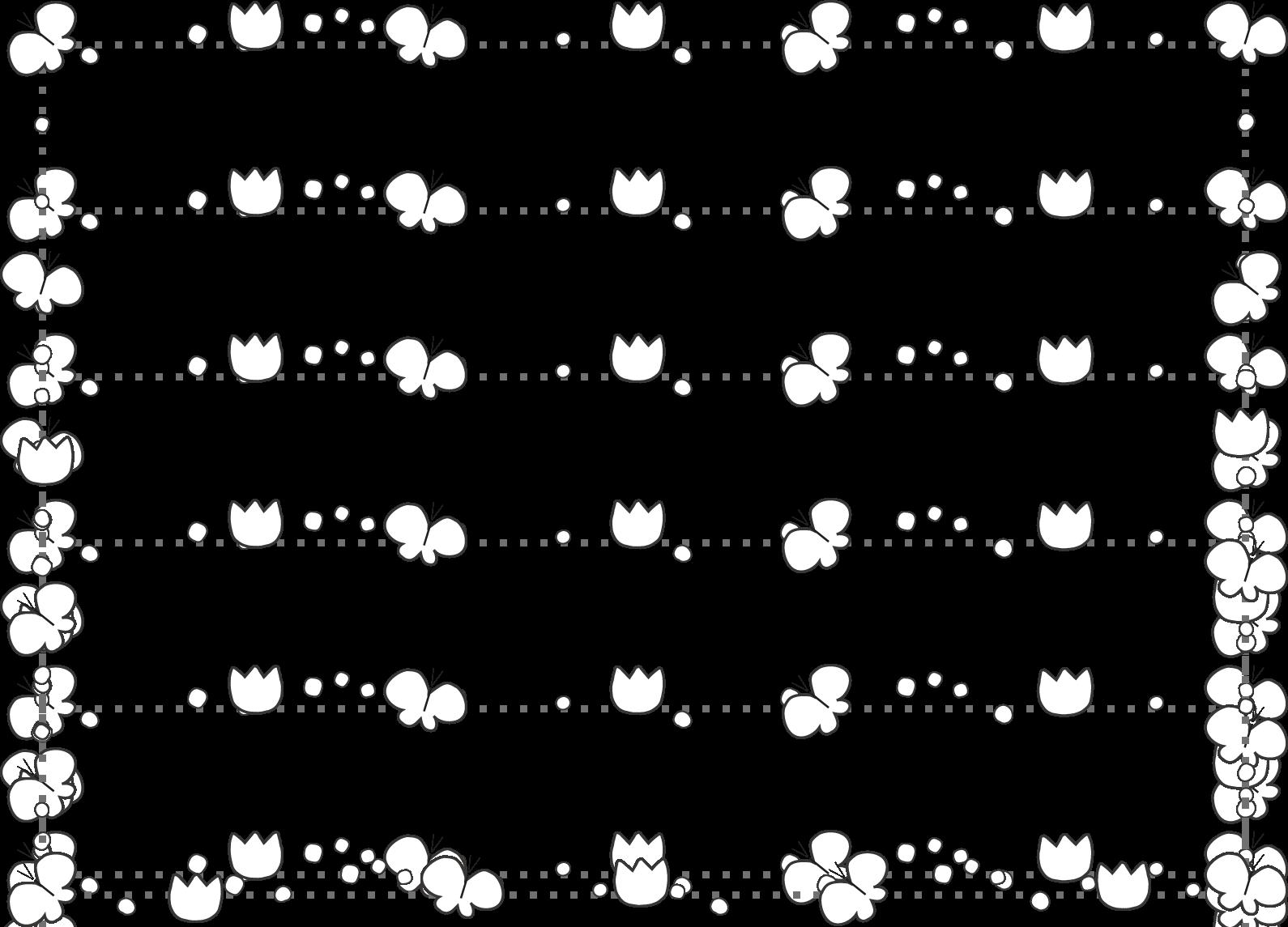 春のイラスト飾り枠・ライン無料イラスト素材