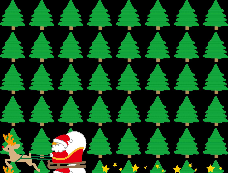飾り枠・ライン・無料イラスト素材/クリスマス