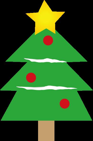 クリスマスツリーのイラスト 印刷用ダウンロード1