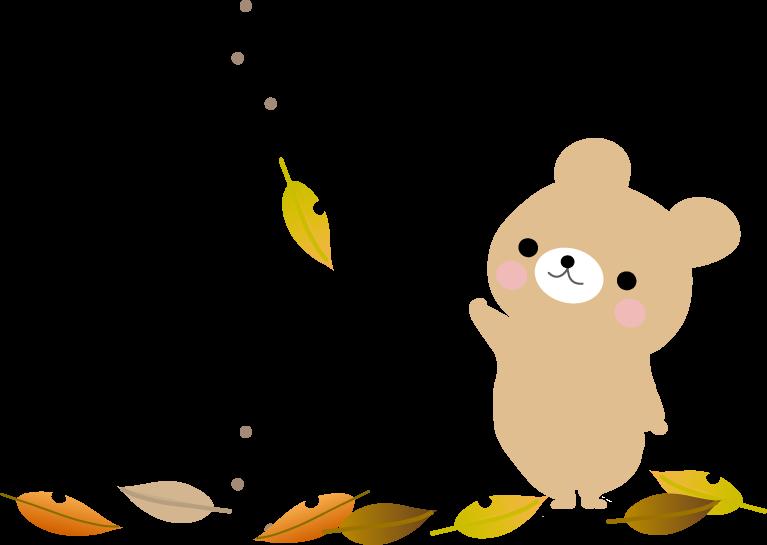 秋のイラスト 落ち葉 無料イラスト フリー素材
