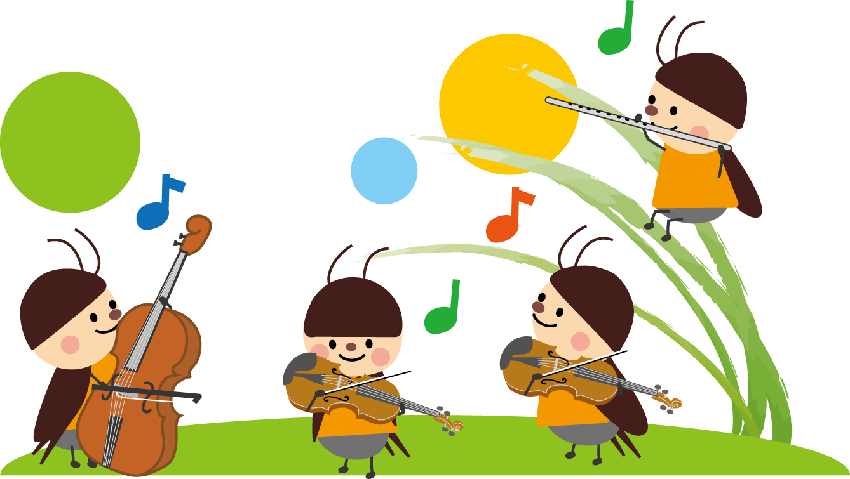 虫の音楽会のイラスト・無料 ... : プリント 幼児 : プリント