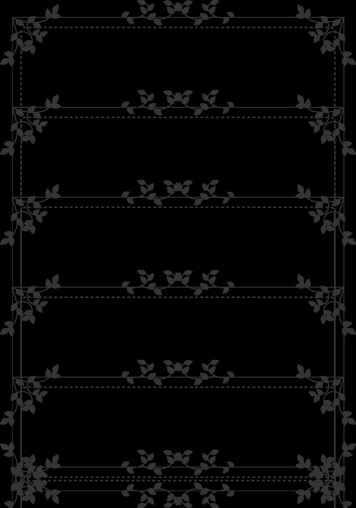 枠・飾り枠フレーム(葉デザイン)無料イラスト素材