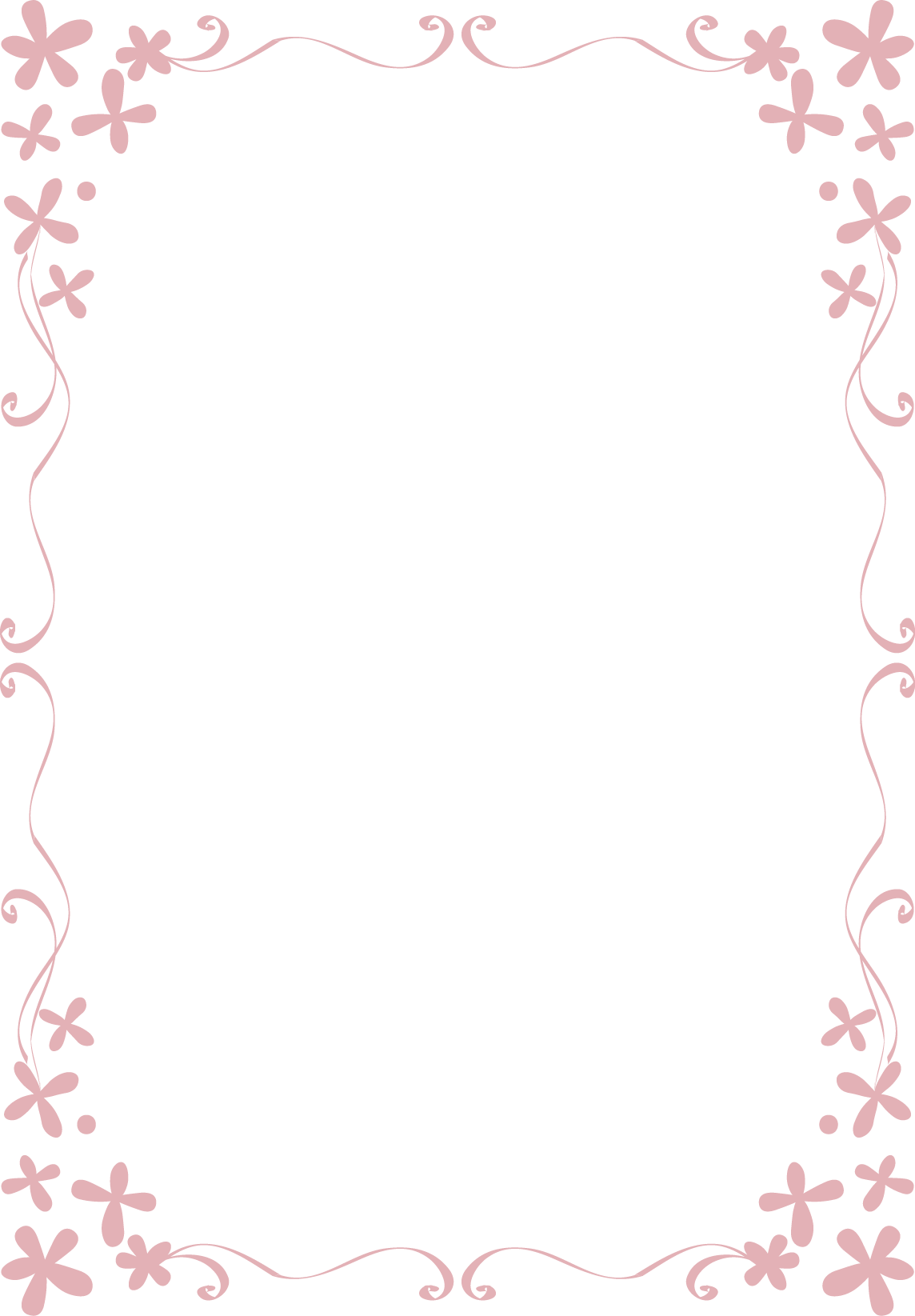 花 イラスト フレーム