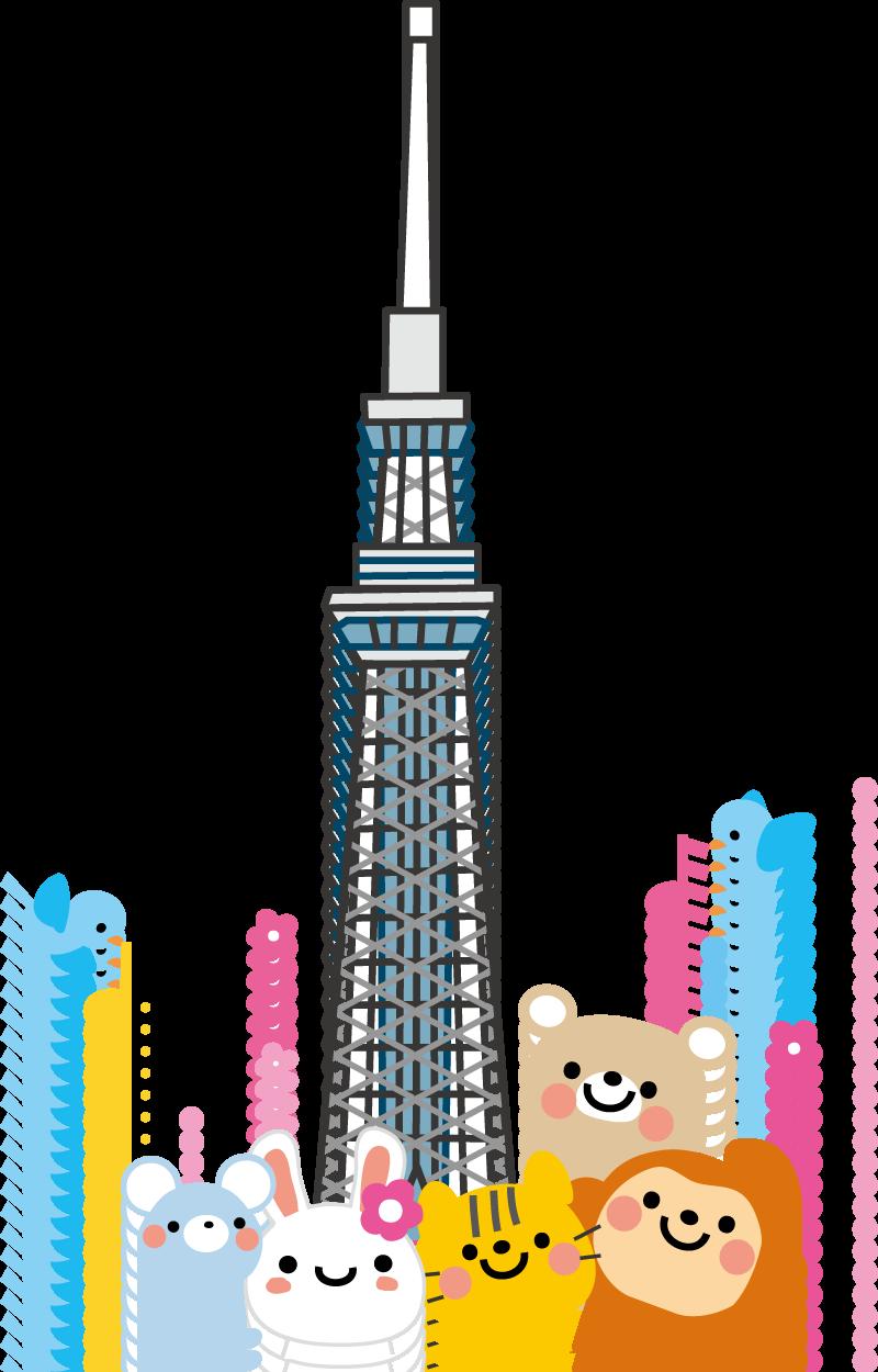 東京スカイツリーのイラスト/無料イラスト素材