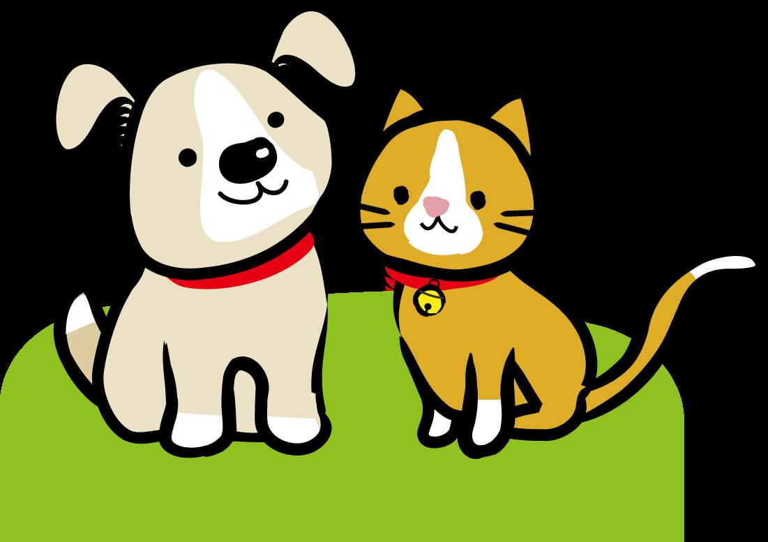 犬猫イラスト/無料イラスト素材