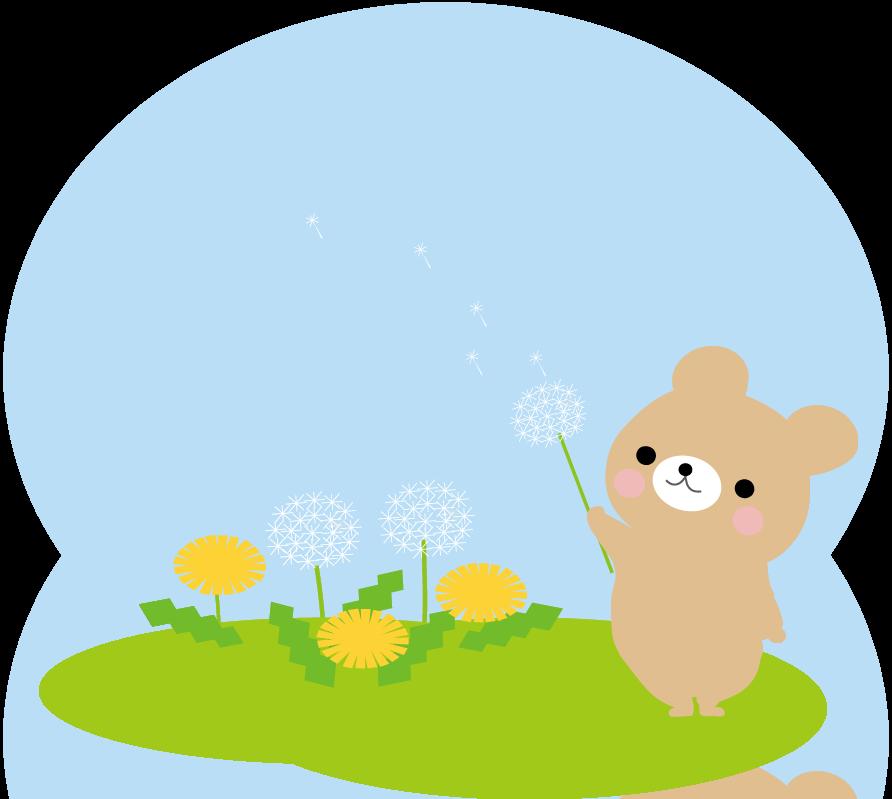 春 たんぽぽのイラスト-無料イラスト 春・たんぽぽのイラスト-無料イラスト イラストわんパグTO