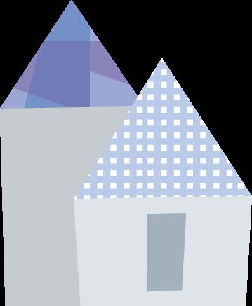ポップな家のイラスト 無料イラスト フリー素材