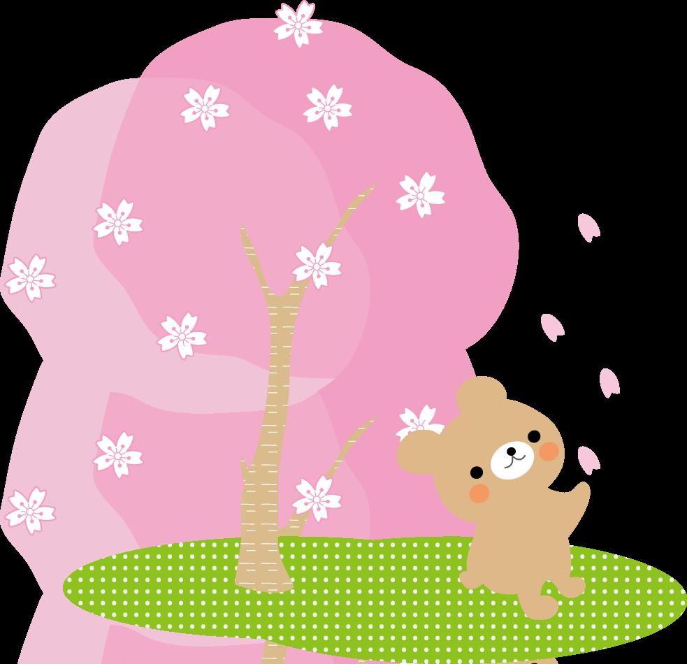 お花見(桜)春のイラスト/無料イラスト