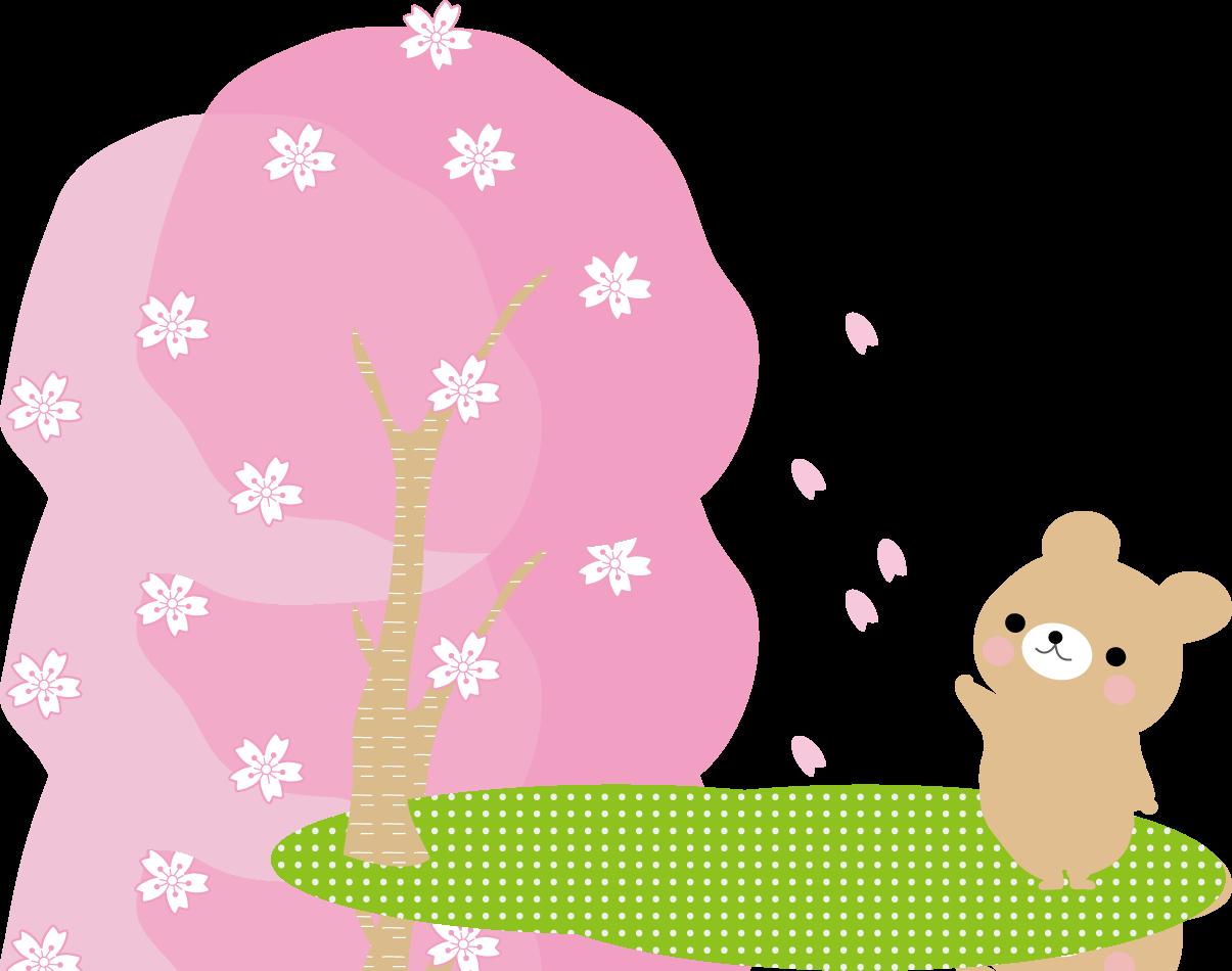 お花見・春のイラスト/無料イラスト フリー素材 イラストわんパグTOP>春のイラスト お花見 春