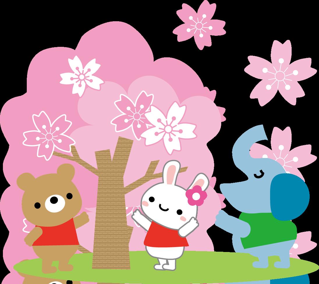 春(桜)お花見のイラスト/無料イラスト