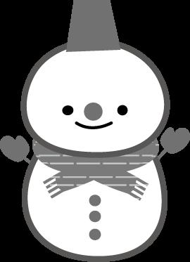 冬のイラスト/雪だるま,無料イラストフリー素材