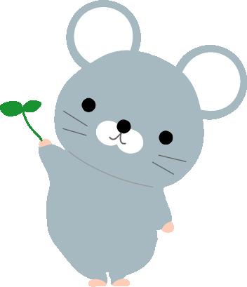ねずみのイラスト/無料イラストフリー素材/可愛いネズミ
